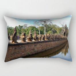 Angkor Wall Cambodia Rectangular Pillow