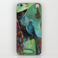 """flora bowley iPhone & iPod Skins featuring """"Light Trio"""" Original Painting by Flora Bowley by Flora Bowley"""