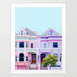 Pastel Victorian Houses - Travel Photography, San Francisco Art Print