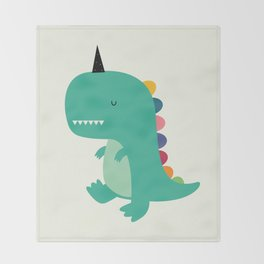 Dinocorn Throw Blanket