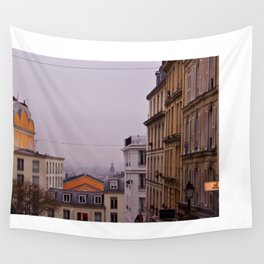 Lilac and Orange in Paris Wall Tapestry