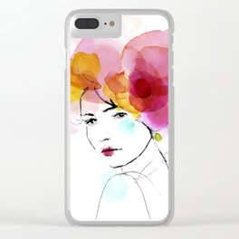 bloomy May Clear iPhone Case
