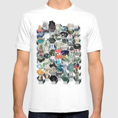 The Library of Babel SMALL White Mens Fitted Tee