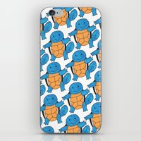 squirtle iPhone & iPod Skins featuring  1 Squirtle, 2 Squirtle, 3 Squirtle, 4 by pkarnold + The Cult Print Shop