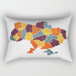 Ukraine colour region map  Rectangular Pillow