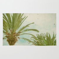 palm trees Area & Throw Rugs featuring Palm Trees by Cassia Beck