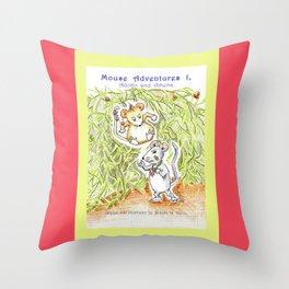 Mouse Adventures 1, Adolfo and Athena Throw Pillow