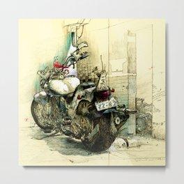 Slimedog Motorbike  Metal Print