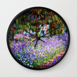 "Claude Monet ""Irises in Monet's Garden at Giverny"", 1900 Wall Clock"