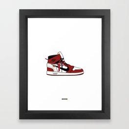 Jordan I x Off White Framed Art Print