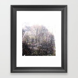 Snow in early fall(1)  Framed Art Print