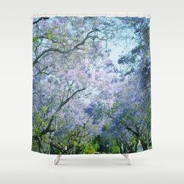 Jacaranda Canopy Shower Curtain
