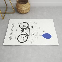 Anatomy Of A Bicycle Rug