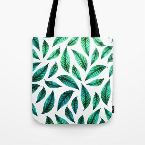Tropical Foliage Pattern #society6 #decor #buyart Tote Bag