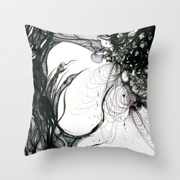 Somber Throw Pillow