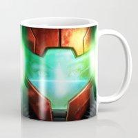 metroid Mugs featuring Metroid by Joe Roberts