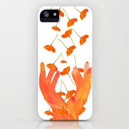 Wonderful Poppy Flowers Orange Coral Color White Background #decor #sociey6 #buyart iPhone Case