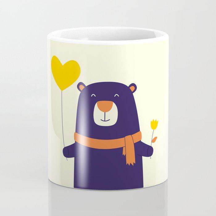 Purple Bear is Here Coffee Mug