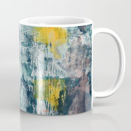 017.2: a bright contemporary abstract design in blues pinks and yellow by Alyssa Hamilton Art  Coffee Mug