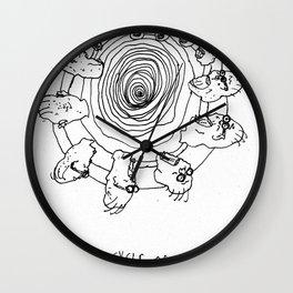 The Cycle of Man Wall Clock