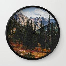 Autumn in North Cascades Wall Clock