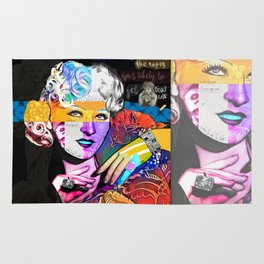 Mae West Collage Art Rug