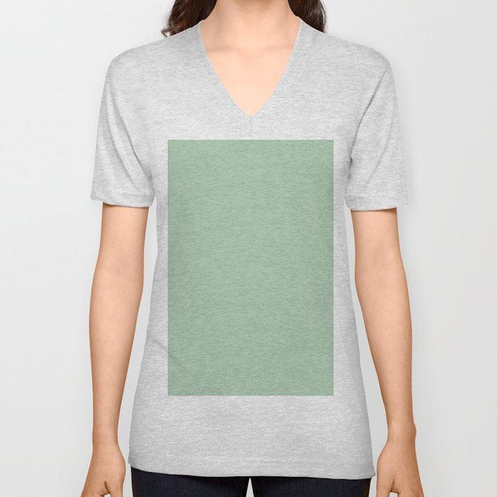 Simply Pastel Cactus Green Unisex V-Neck