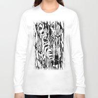 safari Long Sleeve T-shirts featuring Zebra Safari by Alan Hogan