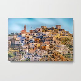 Greek Village On Karpathos Island Metal Print