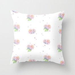 Dreamy Hydrangea Throw Pillow
