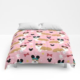 Corgi theme park lover dog breed pattern gifts Comforters