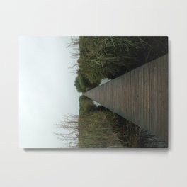 Walking the Boardwalk Metal Print