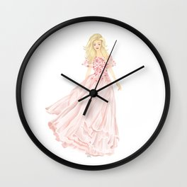 The Pink Dress Wall Clock