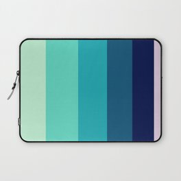 Tropical Teal Stripe Pattern Laptop Sleeve