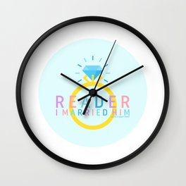 Jane Eyre - Reader, I Married Him Wall Clock