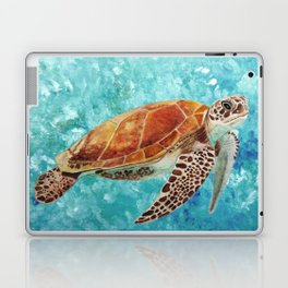 Turtle Swimming Laptop & iPad Skin