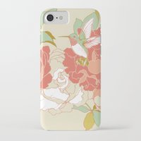 party iPhone & iPod Cases featuring garden party by Teagan White