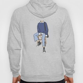 Blue Chair Outfit of the Day Art Hoody
