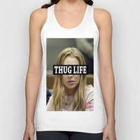 """lindsay lohan Tank Tops featuring Lindsay Lohan """"Thug Life"""" **Signed** by ActuallyHappy"""