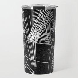 Cat Block Print Travel Mug