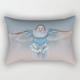 Pale blue flying lovebird Rectangular Pillow