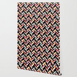 herringbone penguin Wallpaper