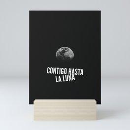 Contigo hasta la Luna Mini Art Print