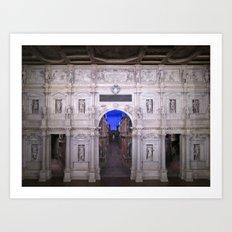 Teatro Olimpico Art Print