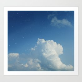 Cumulonimbus Clouds and Stars Art Print