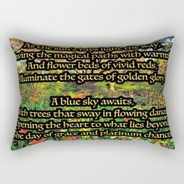 Flower Garden of Platinum Intention Poetry Art Rectangular Pillow