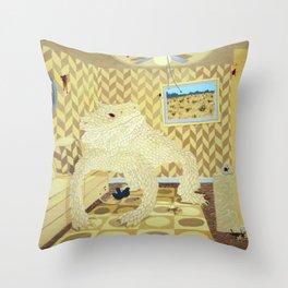 Horned Lizard Throw Pillow