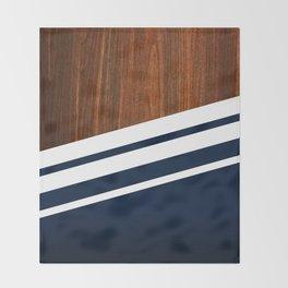 Wooden Navy Throw Blanket