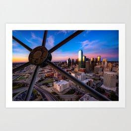 Dallas Skyline at Dusk Art Print
