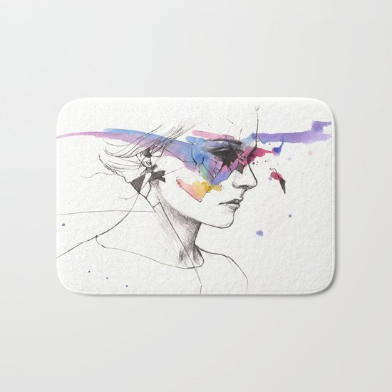 Woman With A New Vision Bath Mat